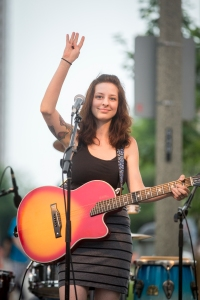 Rebecca and the Grey Notes at the 2014 Bastille Days festival in downtown Milwaukee.