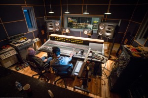 The sound inside the soundboard room has been engineered to be perfectly balanced.
