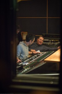 Jon Chi and Ken Krei collaborating on a mix.