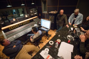 Wrapping up our last day in the studio.