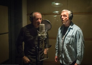Tyler Famularo and Michael Juley running through their vocal tracks.