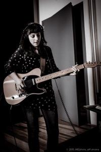 Rebecca on the Fender Telecaster.