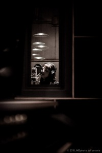 Rebecca in the sound booth at Third Ward Records. All photos by Jeff Zmania. Check out Jeff's photos at www.jmzphoto.com.